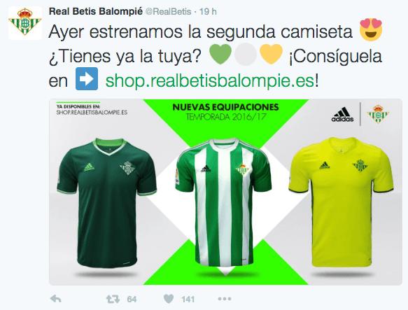 iconos en twitter ejemplo real betis futbol