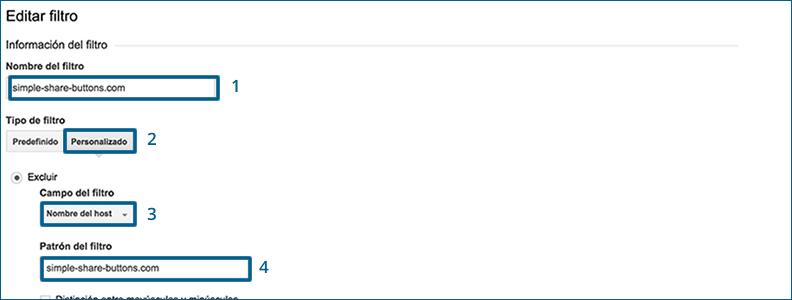 Filtros spam Analytics