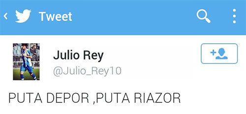 El Tweet de Julio Rey