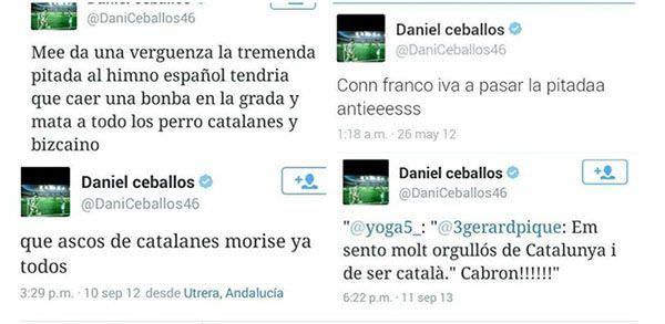 Desafortunados tweets de Ceballos