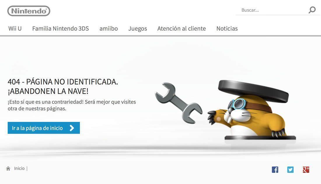 pagina 404 nintendo