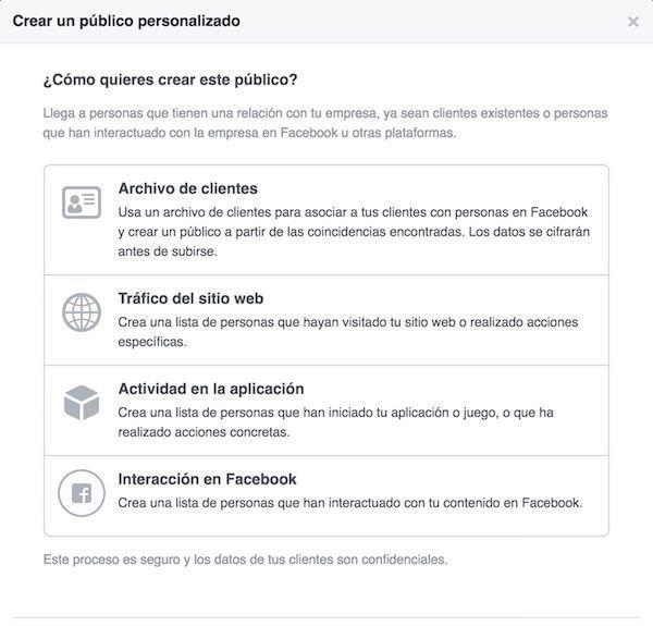 facebook ads publico
