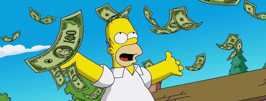 Homer Simpsons se baña en diseño tras encontrar el éxito en los negocios