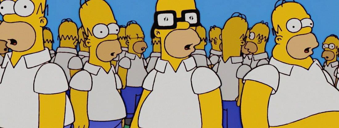 Varias copias de Homer luchan por ser la original