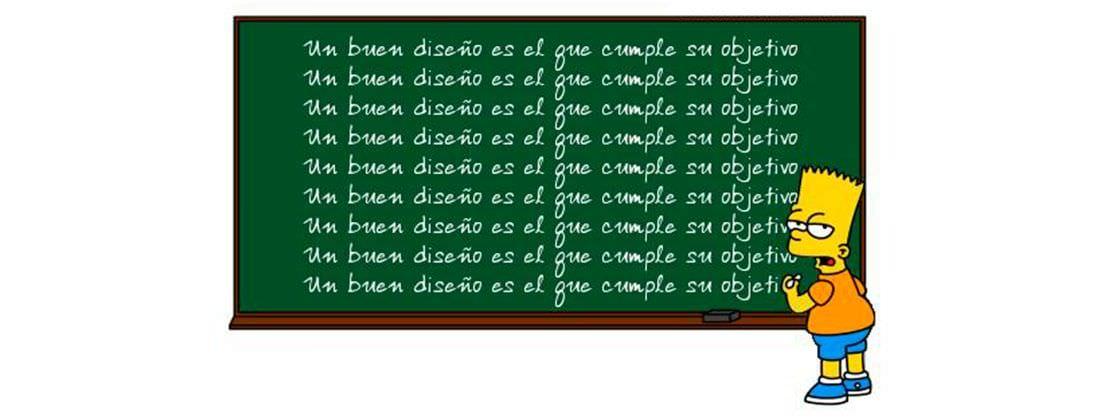 Bart Simpsons escribe en una pizarra el título de este artículo hasta memorizarlo