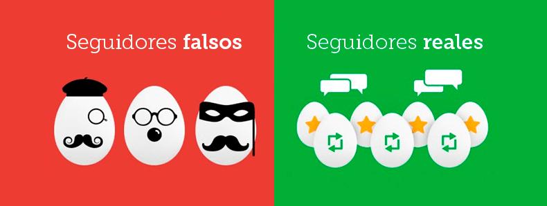 Seguidores falsos VS Seguidores reales
