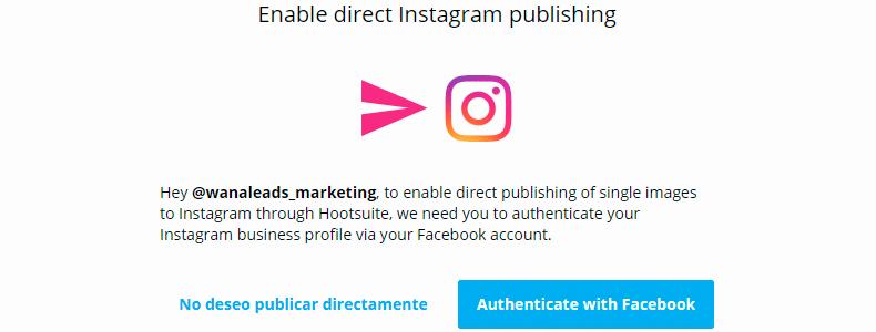 Así se configura Instagram en Hootsuite para poder programar automáticamente