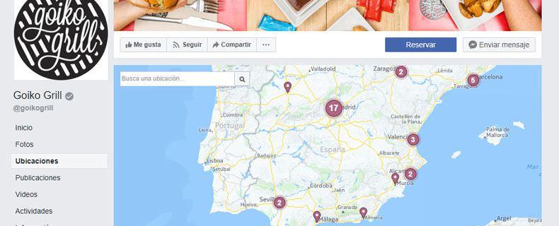 Así funcionan las ubicaciones múltiples de Facebook