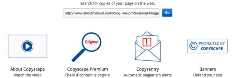 Copyscape detectar contenido duplicado