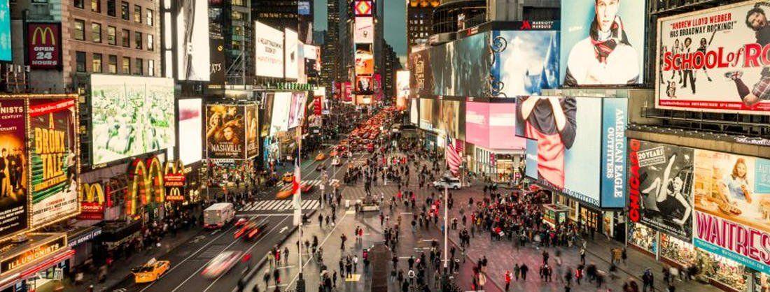 Publicidad en las calles de Nueva York.