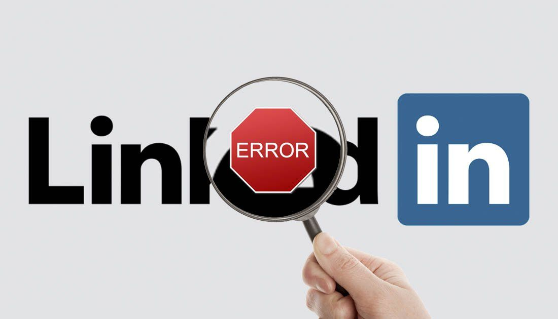 Error en tu página de empresa de Linkedin
