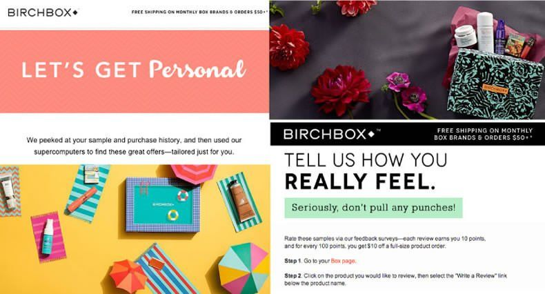 Ejemplos de Inbound Marketing - Birchbox