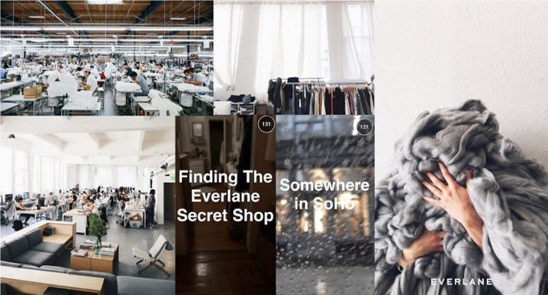 Ejemplos de Inbound Marketing - Everlane