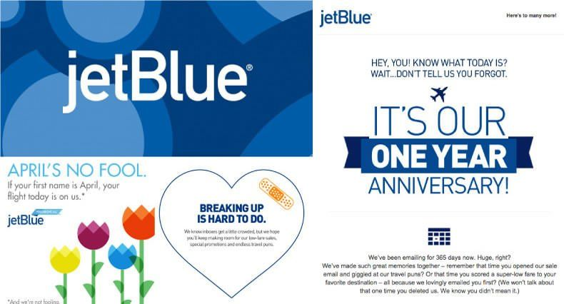 Ejemplos de Inbound Marketing - jetBlue