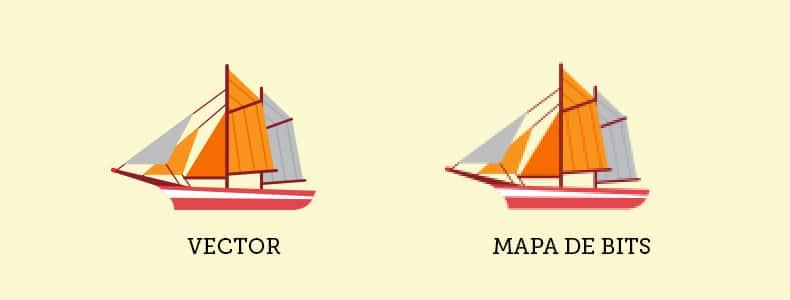 Las diferencias entre vectores y mapa de bits