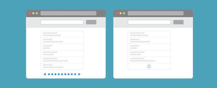 Elegir scroll o paginación