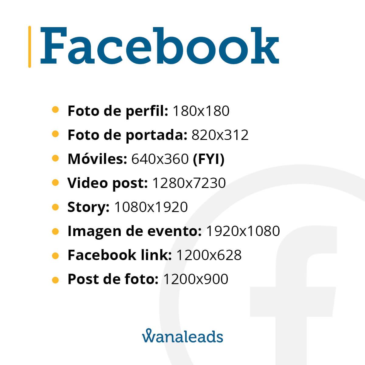 Tamaño de imágenes en redes sociales en 2020 | Facebook