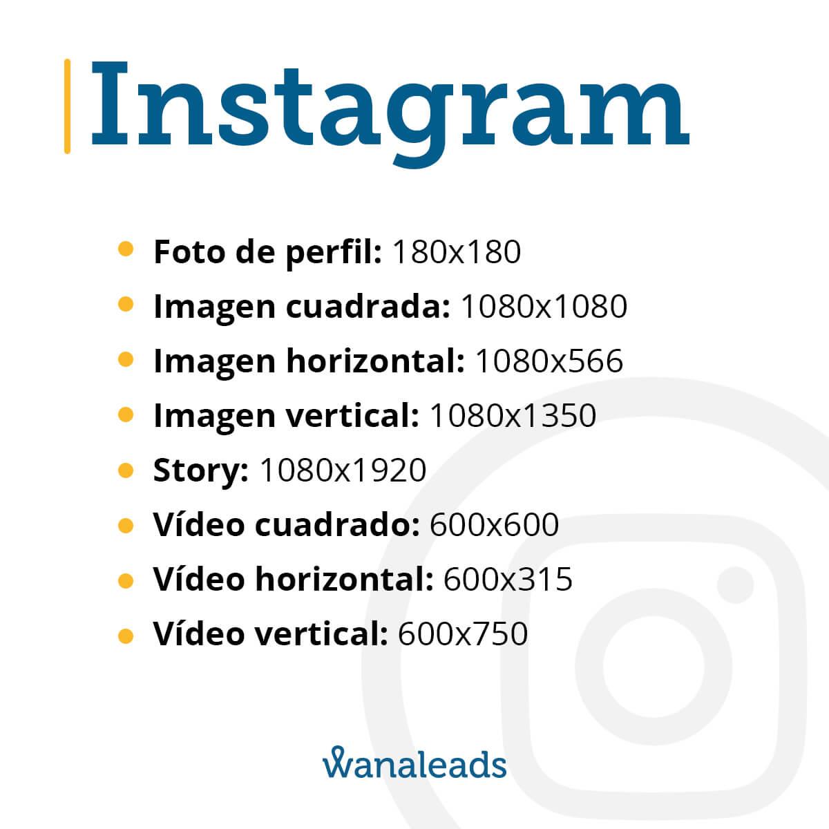 Tamaño de imágenes en redes sociales en 2020 | Instagram