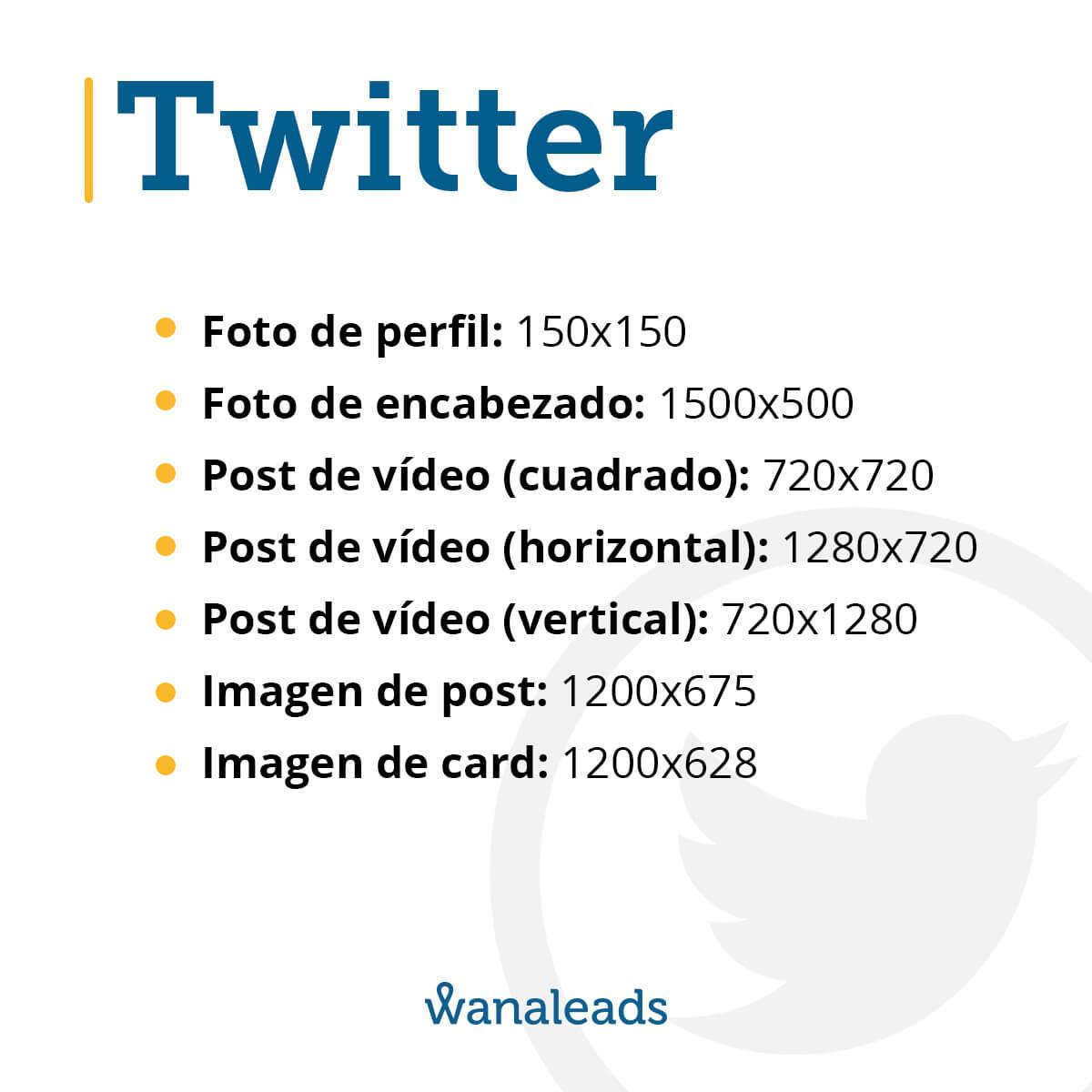 Tamaño de imágenes en redes sociales en 2020 | Twitter