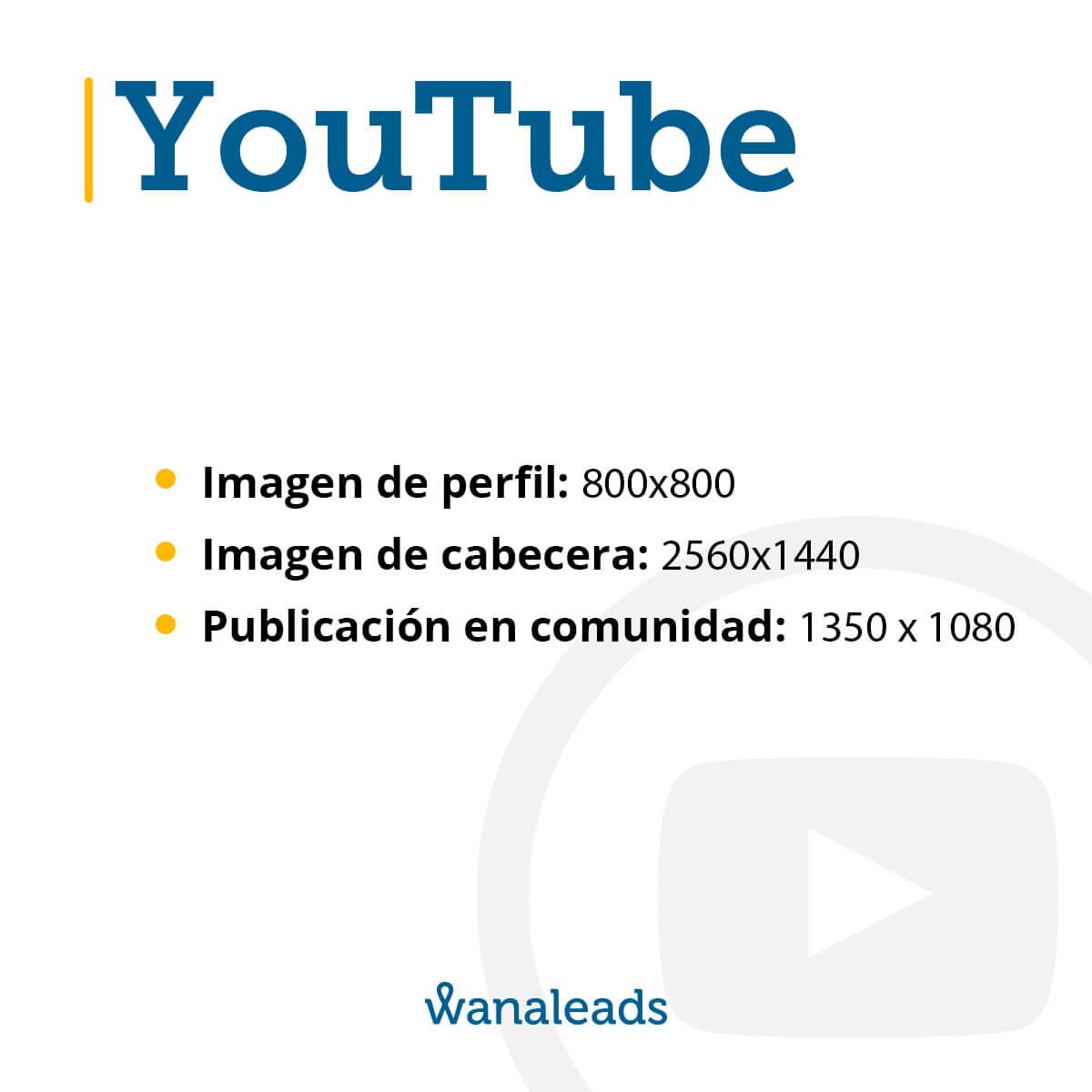 Tamaño de imágenes en redes sociales en 2020 | YouTube