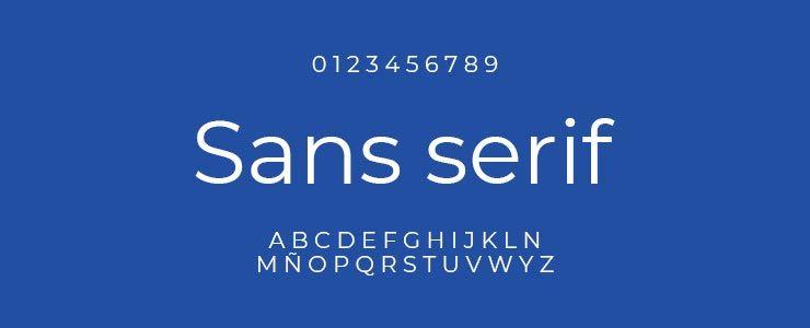 Tipografía de palo seco (sans serif) | Diseño de tiendas online en Sevilla
