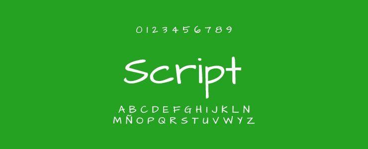 Tipografías Script | Diseño de tiendas online en Sevilla