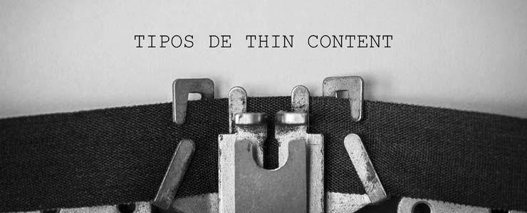 Tipos de Thin Content