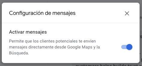 activar y desactivar google mensajes