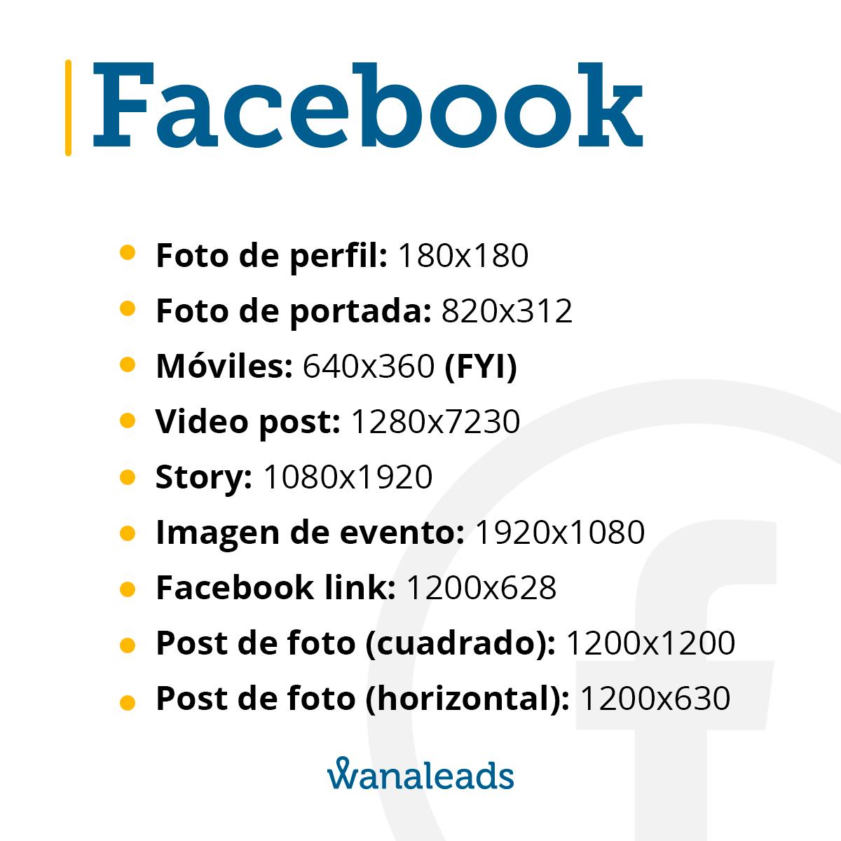 Tamaño de imágenes en redes sociales en 2021   Facebook