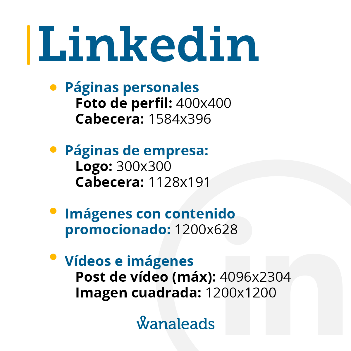 Tamaño de imágenes en redes sociales en 2021   LinkedIn
